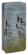 Flock Of Canada Geese   #7116 Portable Battery Charger