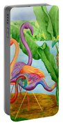 Floosie Flamingos Portable Battery Charger