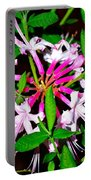 Flora In Pink Portable Battery Charger