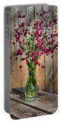 Flora Vase In Hdr Portable Battery Charger