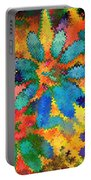 Floral Abstract Photoart Portable Battery Charger