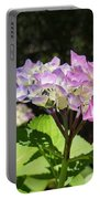 Floral Art Photography Pink Lavender Hydrangeas Portable Battery Charger