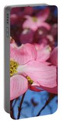 Floral Art Print Pink Dogwood Tree Flowers Portable Battery Charger