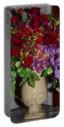 Floral Decor Portable Battery Charger