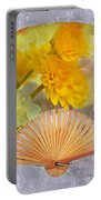 Floral Fan Portable Battery Charger