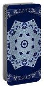 Floral Flow Blues Portable Battery Charger