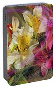Floral Inspiration - Square Version Portable Battery Charger