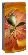 Floral Orange Orb Portable Battery Charger