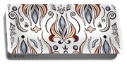 Floral Pattern I Portable Battery Charger