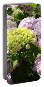 Floral Pink Lavender Hydrangea Garden Art Prints Portable Battery Charger
