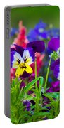 Floral Salad Portable Battery Charger