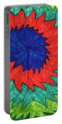 Floral Spin Portable Battery Charger