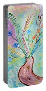Floral Stream Portable Battery Charger