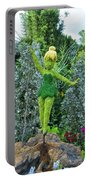 Floral Tinker Bell Portable Battery Charger by Thomas Woolworth