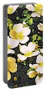 Floral Yellow Portable Battery Charger