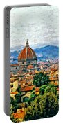 Florence Watercolor Portable Battery Charger
