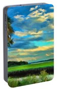 Florida Landscape With Palms Portable Battery Charger