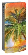 Florida Palm Sunset Portable Battery Charger