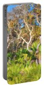 Florida Scrub Oaks Painted  Portable Battery Charger