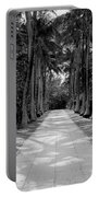 Florida Walkway Black And White Portable Battery Charger