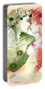 Flower And Leaf Portable Battery Charger
