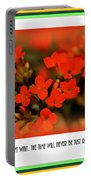 Flower And Time Quote Portable Battery Charger