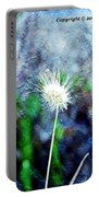 Flower As A  Painting Portable Battery Charger
