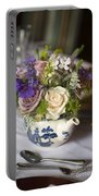 Flower Bouquet In A Teapot Portable Battery Charger