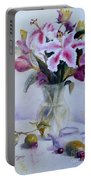Flower Bouquet With Teapot And Fruit Portable Battery Charger