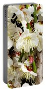 Flower Bunch Bush White Cream Strands Sensual Exotic Valentine's Day Gifts Portable Battery Charger