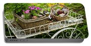 Flower Cart In Garden Portable Battery Charger