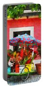 Flower Cart San Juan Puerto Rico Portable Battery Charger