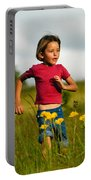 Flower Child Portable Battery Charger