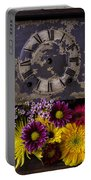 Flower Clock Portable Battery Charger