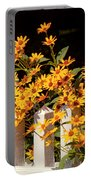 Flower - Coreopsis - The Warmth Of Summer Portable Battery Charger by Mike Savad