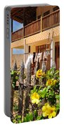 Flower Fence For A Beach Loft In Jeri Portable Battery Charger