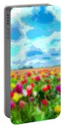 Flower Field Portable Battery Charger