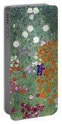 Flower Garden Portable Battery Charger by Gustav Klimt