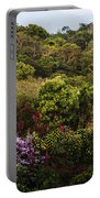 Flower Garden On A Hill Portable Battery Charger