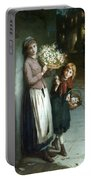 Flower Girls A Summer Night Portable Battery Charger by Augustus Edwin Mulready