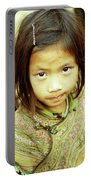 Flower Hmong Girl 02 Portable Battery Charger