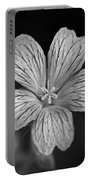 Flower In Black And White Portable Battery Charger