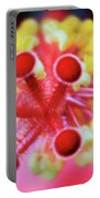 Flower In Pink Portable Battery Charger