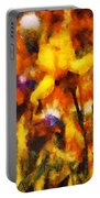 Flower - Iris - Orchestra Portable Battery Charger by Mike Savad