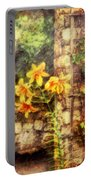 Flower - Lily - Yellow Lily  Portable Battery Charger by Mike Savad