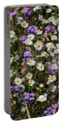 Flower Mix - Purple And White Portable Battery Charger