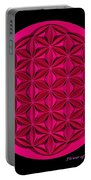 Flower Of Life - Pink Portable Battery Charger