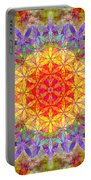 Flower Of Life Rainbow Mandala Portable Battery Charger