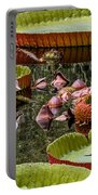 Flower Of Victoria Cruziana Portable Battery Charger
