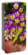 Flower - Pansy - Purple Posies  Portable Battery Charger